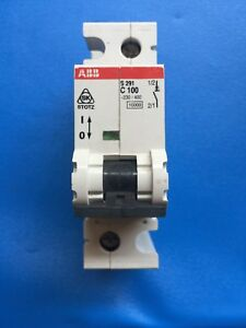 ABB Miniatura Interruptor Reja de desminado 1 A Unipolar C-Tipo S201C1 6ka