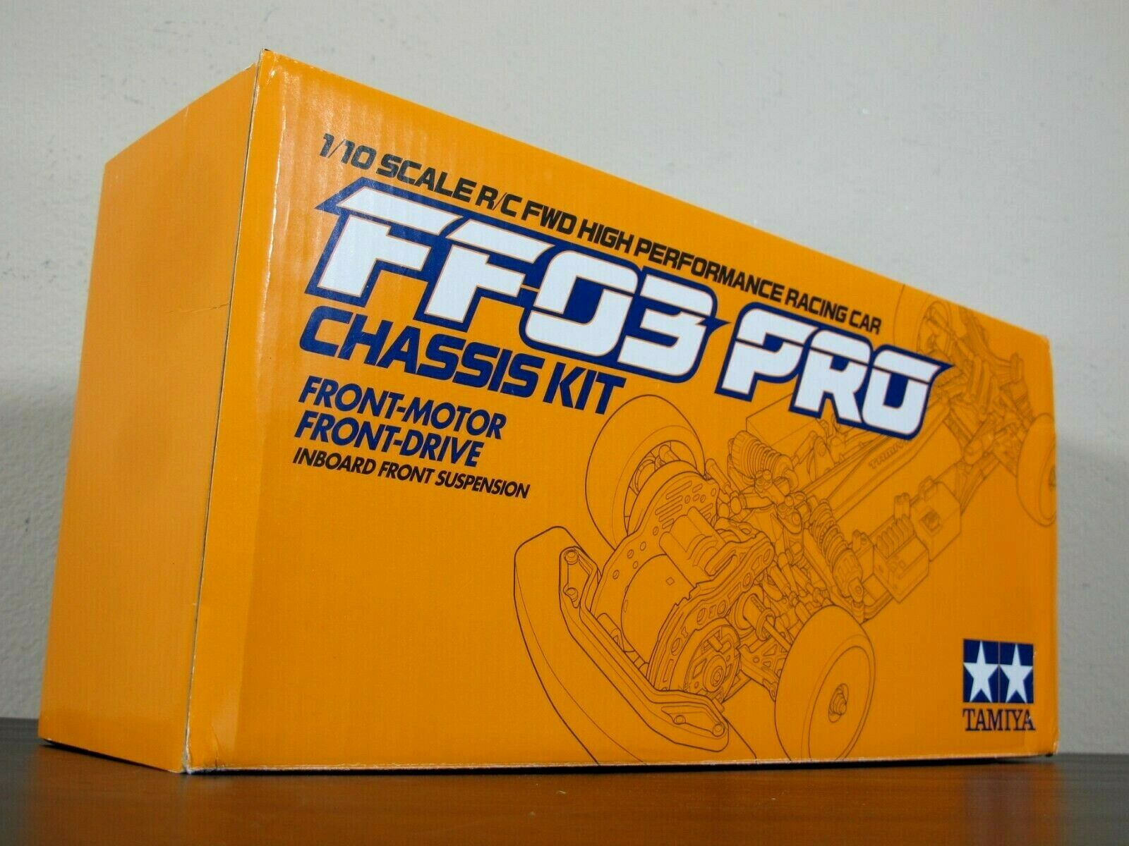 Rare New Tamiya 1 10 R C FF03 PRO Chassis Front Motor Drive 2WD  Discontinued