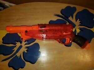 NERF-N-Strike-Barrel-Break-IX-2-Translucent-Red-Shotgun-Dart-Blaster-Hasbro-2009