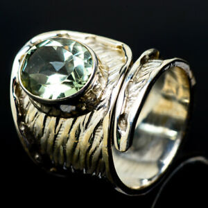 Green-Amethyst-925-Sterling-Silver-Ring-Size-7-Adjustable-Ana-Co-Jewelry-R19144F
