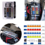 for Car Boat Blade Fuse Holder Mount 12-port Fuse Box Electric Circuit Protector