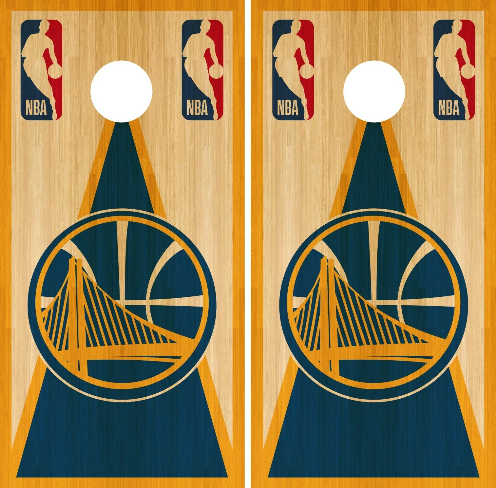 golden State Warriors Cornhole Wrap NBA Game Board Skin Set Vinyl Decal CO605
