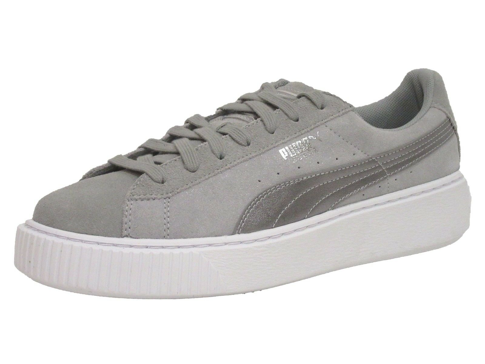 PUMA Women's Suede Platform Safari Wn, Quarry-Quarry, 10 M US