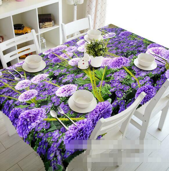 3D Lush Flowers 2 Tablecloth Table Cover Cloth Birthday Party Event AJ WALLPAPER