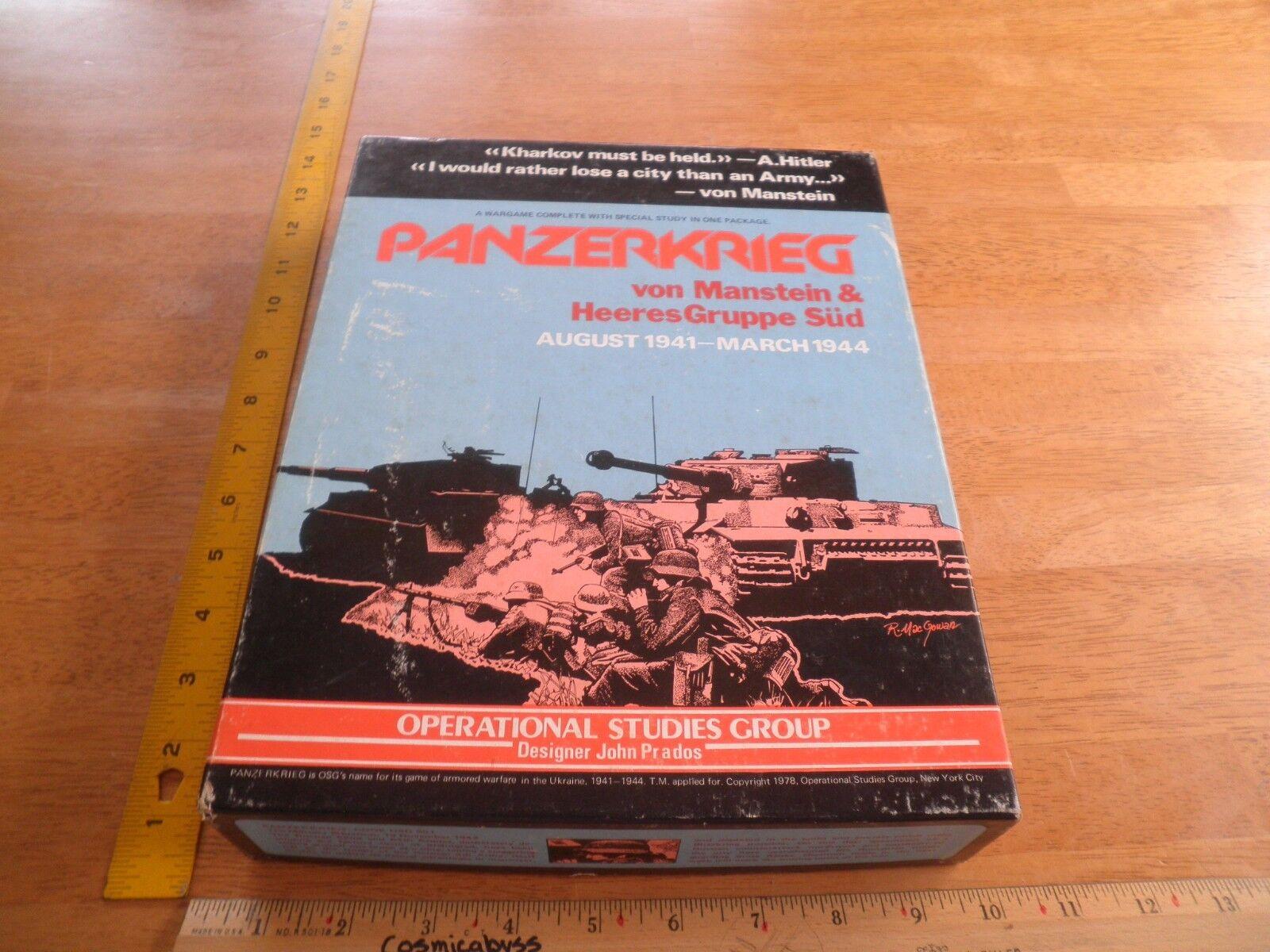 Panzerkrieg von manstein & heeres gruppe sud osg strategiespiel 1978 abgeschlossen