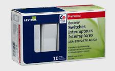 (10-Pack) Leviton Decora 15 Amp Single-Pole Rocker AC Quiet Switch, White