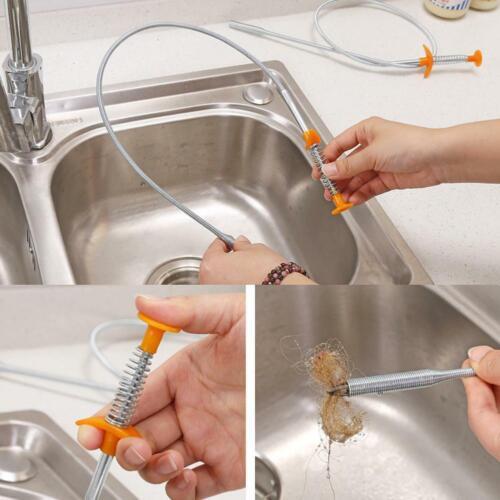 Küchenkanal Baggergerät Werkzeuge Federrohr Waschbecken Reinigungshaken Neu