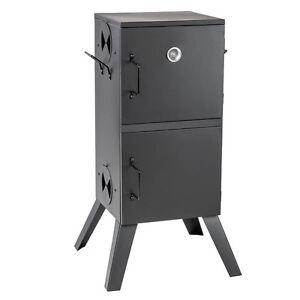FUMIOR VITRE CHARBON DE BOIS SCIURE BBQ SMOKER GRILLE JARDIN & THERMOMÈT. 300 °C