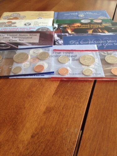 9 Sets 1990-1998 USMint sets
