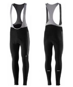 a7aaf009bca Image is loading Adidas-Response-Cycling-Mens-Winter-Bib-Tights-Black-