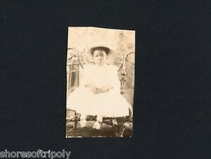 19th C. AFRICAN AMERICAN CHILD IN HAT CHAIR ~ ID'd TEXAS FAMILY PHOTO ALBUM ~ TX