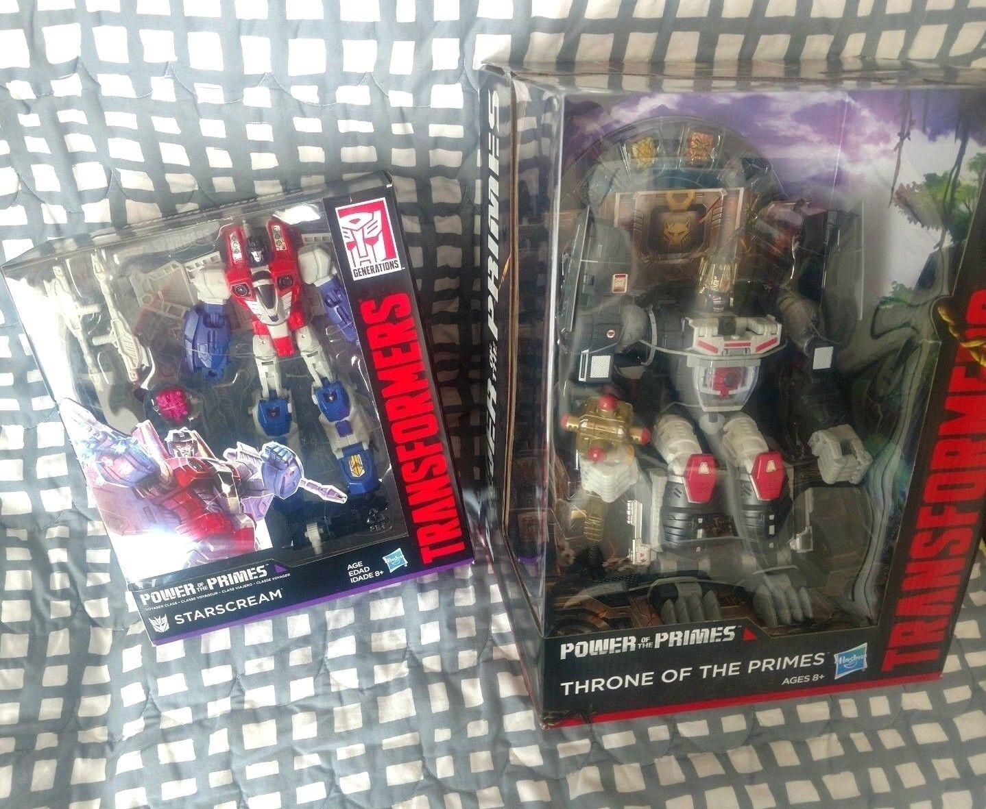 Transformers THRONE OF THE PRIMES SDCC 2018 Optimus Prime POTP STARSCREAM G1 LOT