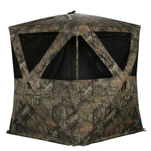 Rhino Blinds 3 Person Hunting Ground Blind, Mossy Oak Breakup Country (Used)
