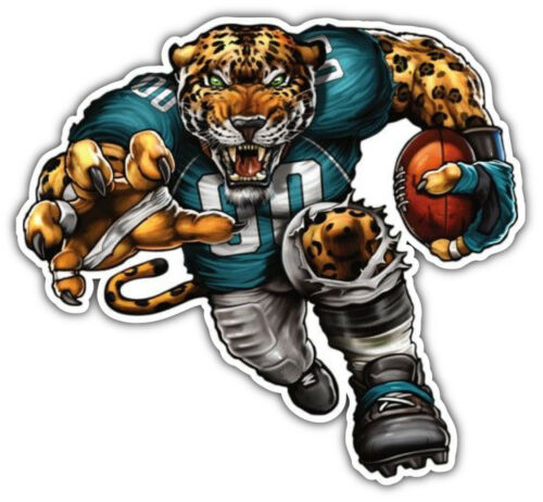 Jacksonville Jaguars NFL Mascot Car Bumper Sticker 3/'/' or 5/'/'