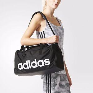 b9e430c58ea Image is loading Adidas-Linear-Performance-Small-Training-Bag-Black-White