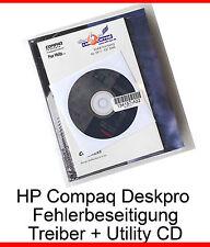 HP COMPAQ DESKPRO FEHLERBESEITIGUNG TREIBER DRIVER CD HANDBUCH MANUAL NEU NEW