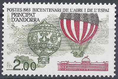 Europe Andorra FrancÉs Nº310 Bicentenario Aire Y L'espacio Neuf Luxe Mnh