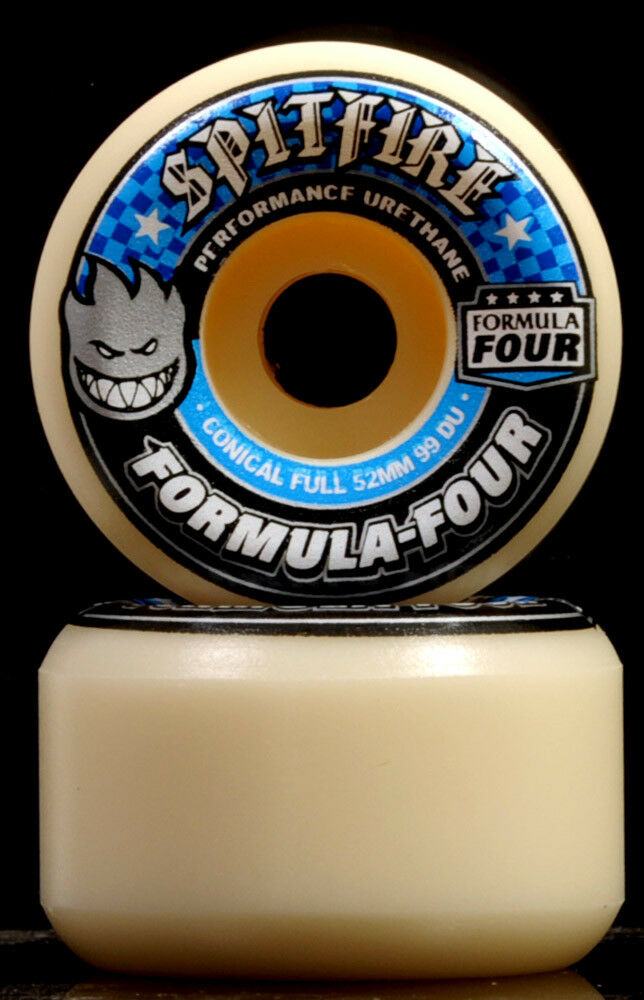 Spitfire Formula Four Conical Full 99A 99A 99A Skateboard Wheels Rollen 4 Stk 52 53mm F4 021150