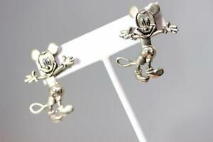 Image Is Loading Sterling Silver Disney S Articulated Mickey Mouse Dangle