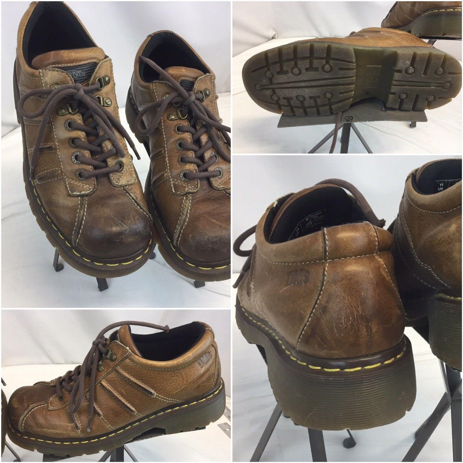 Doc Martens Brogue shoes Sz 12 Men Brown Leather Split Toe EUC YGI L8S-311