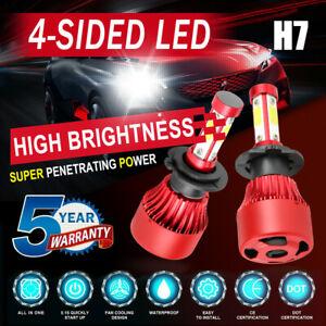 4-Side H7 LED Headlight Kits 2800W 280000LM Bulb High Power 6000K White Lamps ~