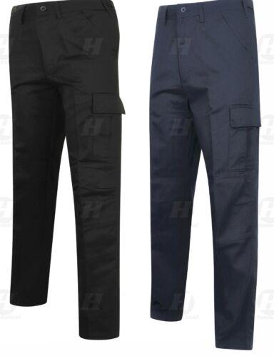 Heavy Duty Pro Cargo Lavoro BIG TALL Pantaloni Pantaloni più tasche combattimento Workwear