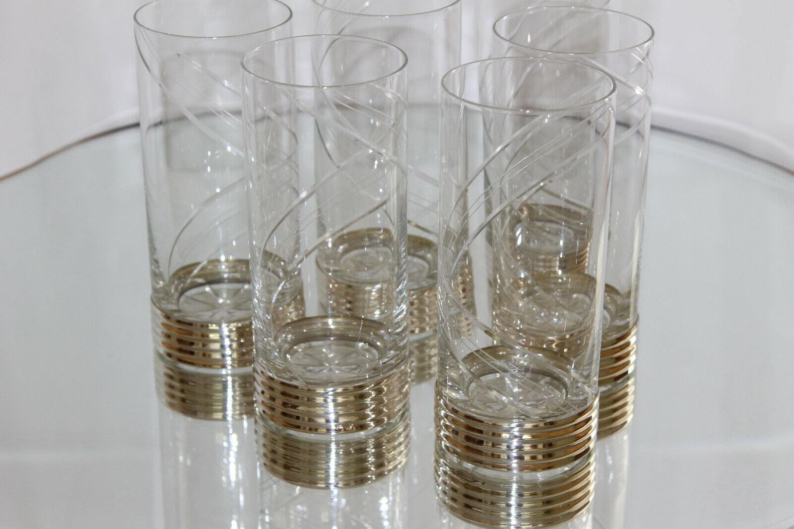 TOP  6 Exquisite verres luxe argent 925 punziert décor col rodé handschliff verre