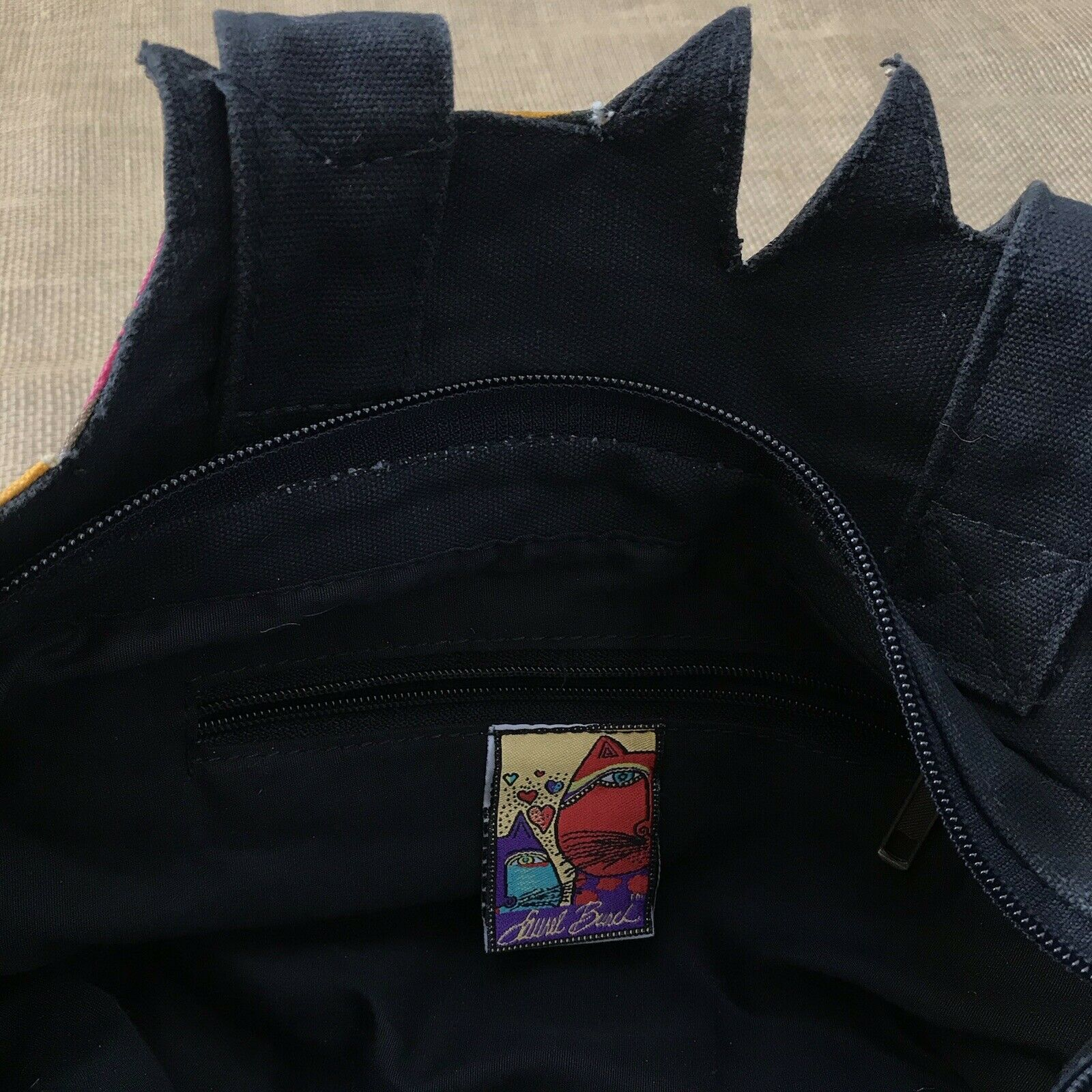 Laurel Burch Feline Cat Hand Bag Shoulder Bag Zip… - image 9