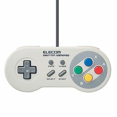 Elecom SNES SFC Turbo USB Gamepad Controller for PC Mac (Better Than Buffalo)