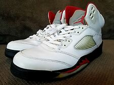 8635e5db305a item 3 2012 Nike Air Jordan V 5 Retro WHITE FIRE RED BLACK SILVER OG  136027-100 sz 11.5 -2012 Nike Air Jordan V 5 Retro WHITE FIRE RED BLACK  SILVER OG ...