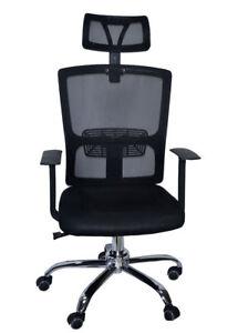 Silla giratoria de oficina Ejecutiva escritorio Negro | eBay