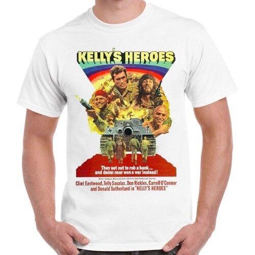Kelly/'s Heroes Clint Eastwood Oddball War Soldier Movie 70s Retro T Shirt 504