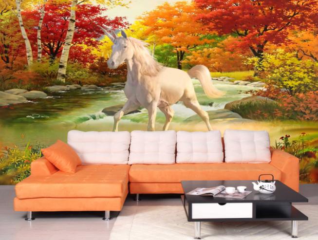 3D Unicorn Image 557 Wallpaper Murals Wall Print Wallpaper Mural AJ WALL AU Kyra