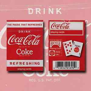 mini coke bicycle deck playing cards by uspcc coca cola collectable magic tricks. Black Bedroom Furniture Sets. Home Design Ideas