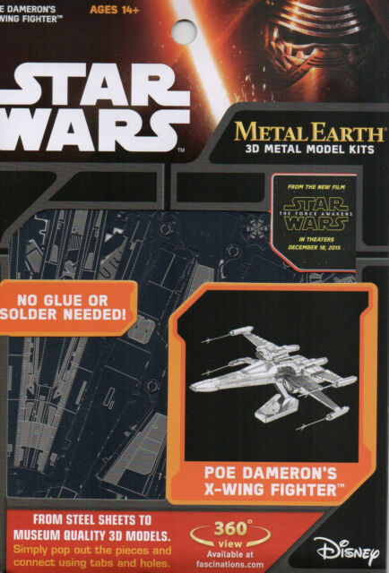Fascinations Metal Earth 3D Model Kit Star Wars - Poe Dameron's X-Wing Fighter
