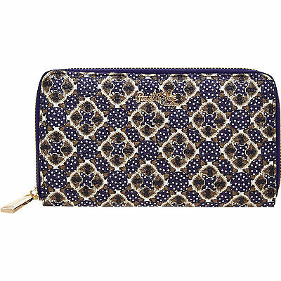 PAUL & JOE SISTER Cat Print zip around purse clutch wallet blue asos indie BNWT