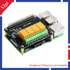 Details about DockerPi 4 Channel Relay Expansion Board Relay Module for  Raspberry Pi 4 /3/2/B+