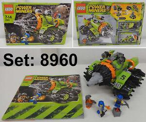 Jeu Jeu Lego Power Miners Set 2009 Complet 8960-1 Auger - Thunder Driller