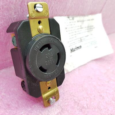 NEW MARINCO 206R L6-20 LOCKING PLUG RECEPTACLE 20A 250V 20 AMP 250 VOLT NEMA