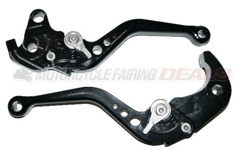 CNC Adjustable Shorty Brake Clutch Lever Black For Honda CBR 1000 2004 - 2007