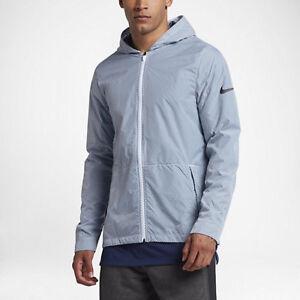 77e5109ed6d1 Nike Men s Hyper Elite Shield All Day Basketball Jacket Blue White ...