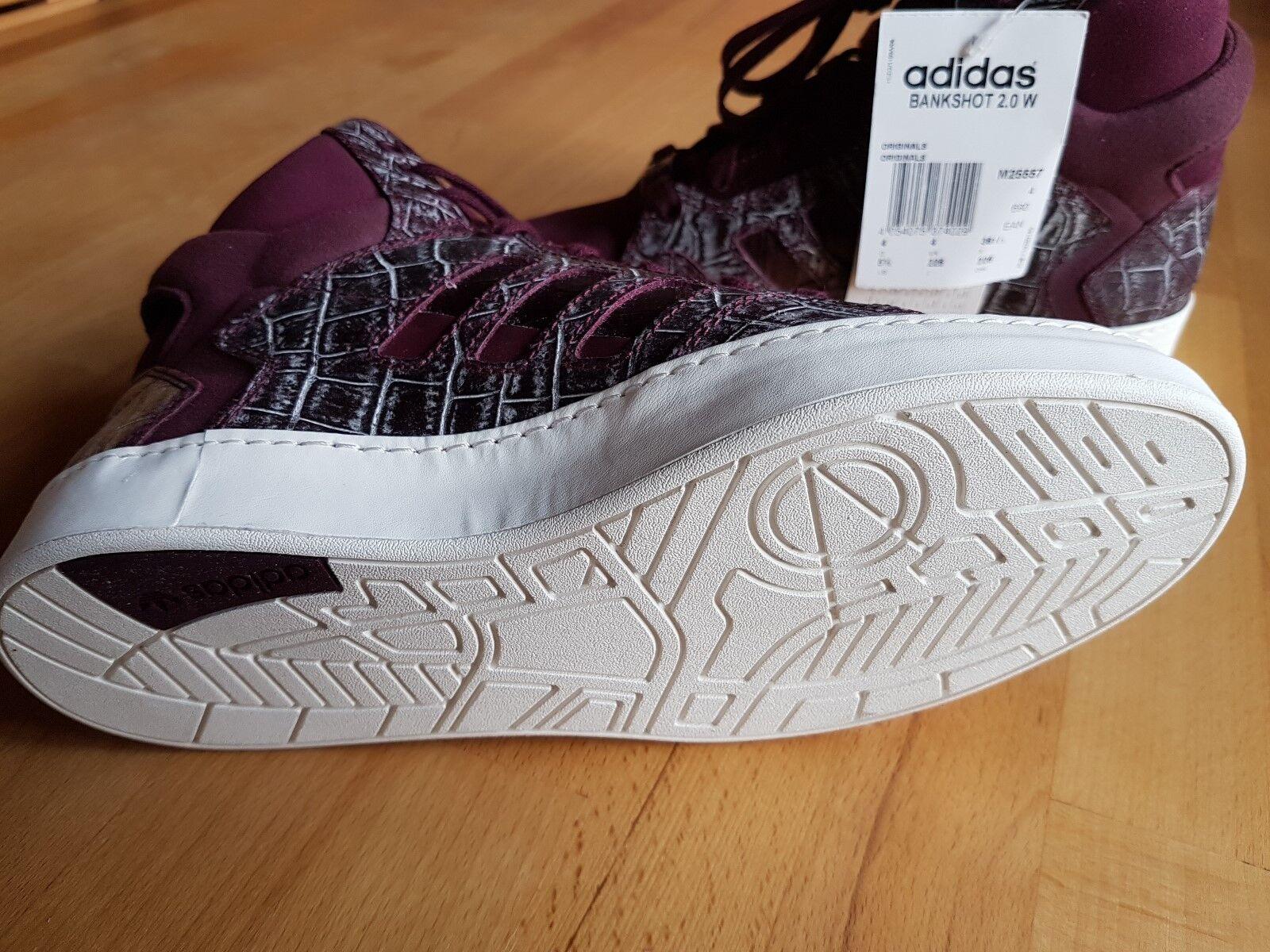 Adidas - Damen Kinder 0 Sneaker - BANKSHOT 2. 0 Kinder W - ,36 2/3, Maroon, -NEU- b0a95e