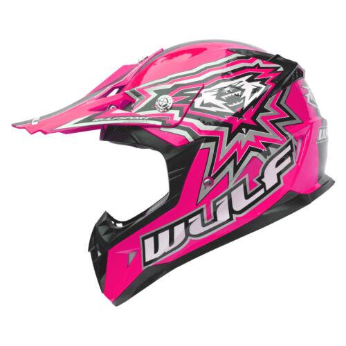 Wulf Cub Flite-Xtra Motocross Helmet Kids Junior Childrens MX ATV Quad Wulfsport