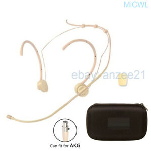 Foldable-Head-Mic-Microphone-for-AKG-3Pin-XLR-mini-with-case
