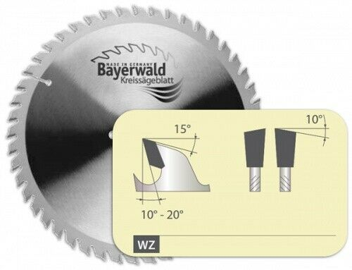 HM Kreissägeblatt - Ø 230 mm x 2,5 mm x 30 mm   Z=12 WZ
