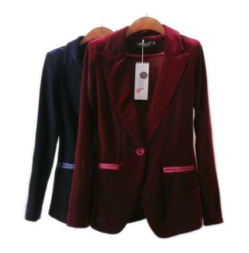 Formelle Suit Kvinders Jakker Velvet Office Slim Coat Hkm Retro Blazers Fit Outwear czqYUrqS