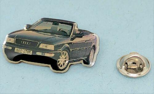 Audi PIN AUDI Cabriolet Noir-Dimensions 35x19mm