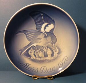 Bing Grondahl Mothers Day 1970 Porcelain Plate Birds