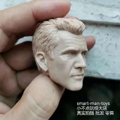 Unpainted Head 1//6 Male Sculpt Mel Gibson PVC Carved Sculpt Model F Figure
