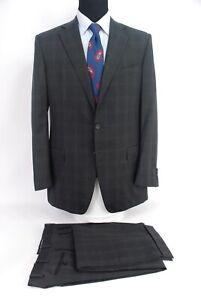 Ermenegildo Zegna Italy 3btn Gray Check Wool Suit Dual
